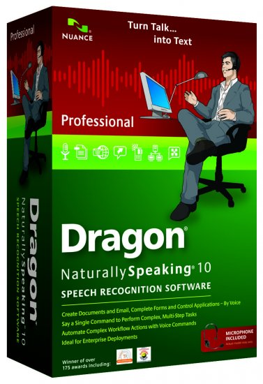 Dragon NaturallySpeaking® 10 Professional - Click Image to Close